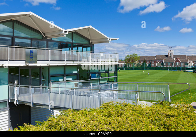 National Cricket Performance Centre and pitch Loughborough University campus Leicestershire England UK GB EU Europe - Stock Image