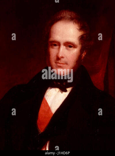 Henry John Temple, 3rd Viscount Palmerston and former British Prime Minister - Stock Image