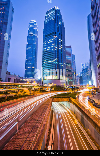 International Financial Center of Hong Kong, China. - Stock-Bilder