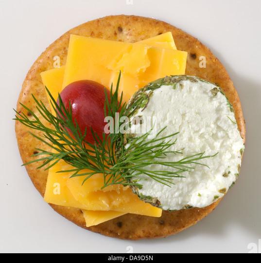 Cheese cracker - Stock Image
