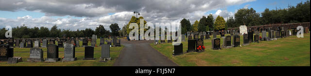 Wide shot of the path to the Lockerbie PA103 memorial,in summer,Scotland,UK - Stock Image