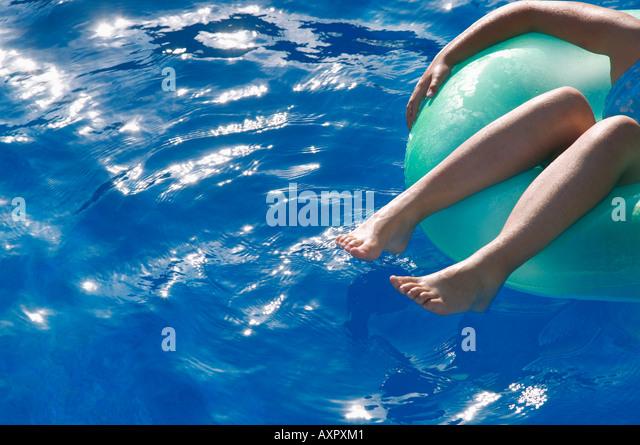 Little Girl Swimming On Lake Stock Photos Little Girl Swimming On Lake Stock Images Alamy