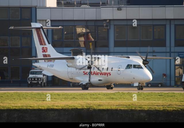Scot Airways Dornier 328 at London City Airport, England, UK. - Stock Image