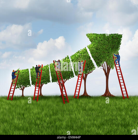 People group investing and financial services business concept as a team of corporate workers and employees with - Stock Image