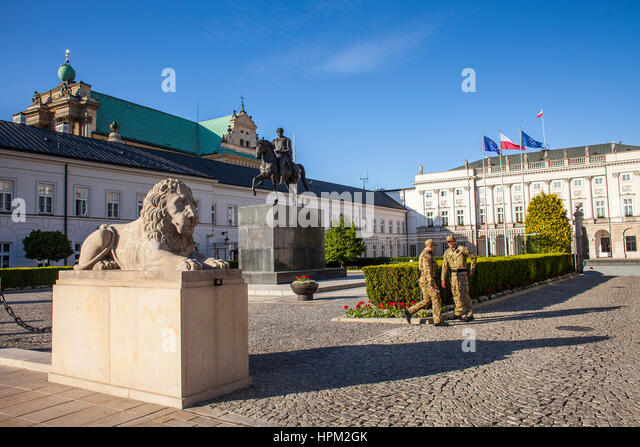 Presidential Palace,Warsaw, Poland - Stock Image