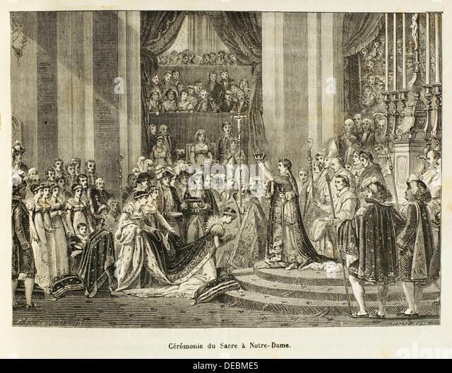 France, History, 19th Century. The coronation of Napoleon I as Emperor of the French, which took place on Sunday - Stock-Bilder