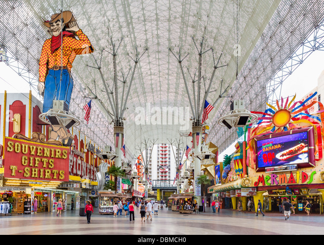 Fremont Street Experience in downtown Las Vegas, Nevada, USA - Stock Image