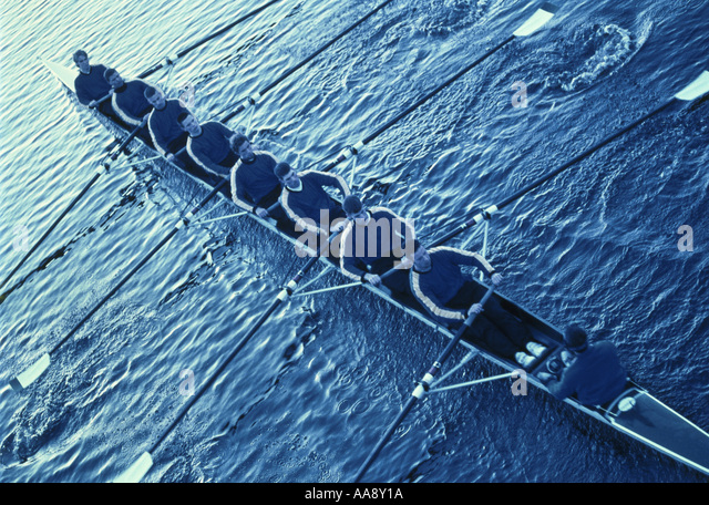 Team sport rowing - Stock Image
