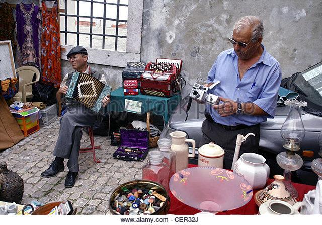 Feira da Ladra, Thieves Flee Market, Lisbon, Portugal - Stock Image