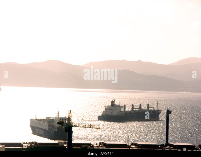 The Bay of Gibraltar in High Key - Stock Image