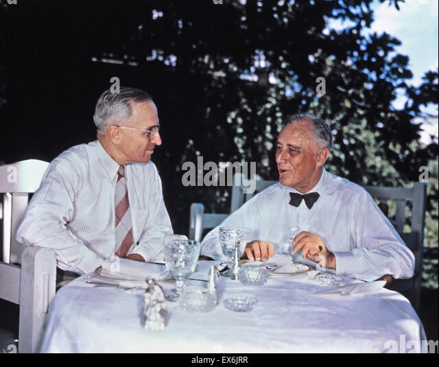 comparison of president roosevelt president truman Harry s truman: 33rd president:  on entering the white house after franklin roosevelt died on april 12,1945,  titanic size comparison to modern.