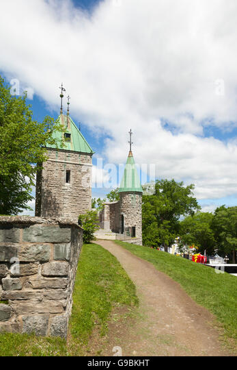 City Wall of Old Quebec City, - Stock Image