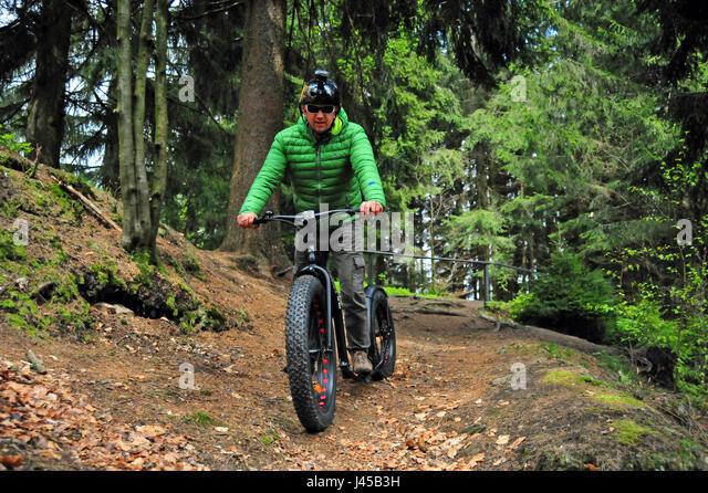 Fat Bike, Thüringer Wald, Deutschland - Stock-Bilder