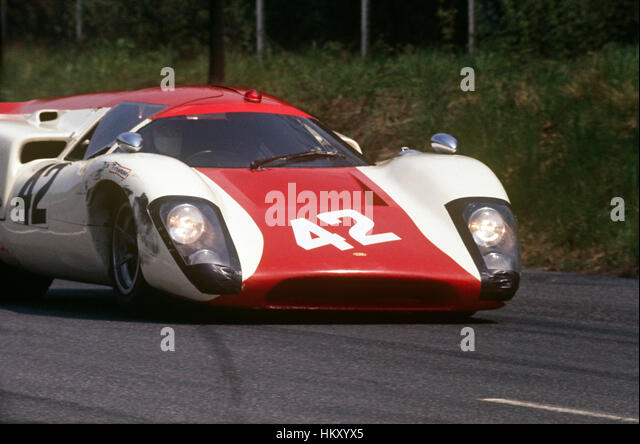 1969 Lola T70 sports car on track - Stock Image