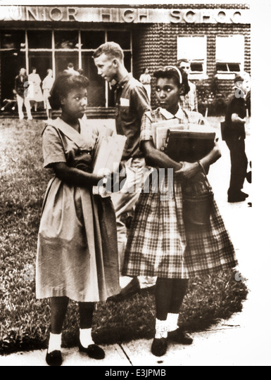 black young women at the junior high school,1960 - Stock Image