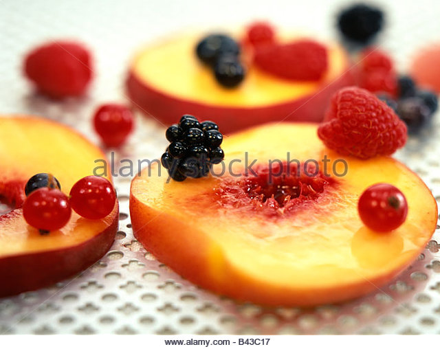 composition with summer fruit - Stock Image