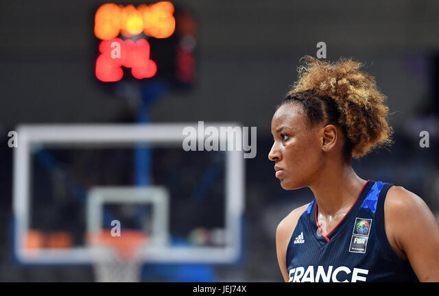 Diandra Tchatchouang of France in action during the FIBA Women's European Basketball Championship final match - Stock-Bilder