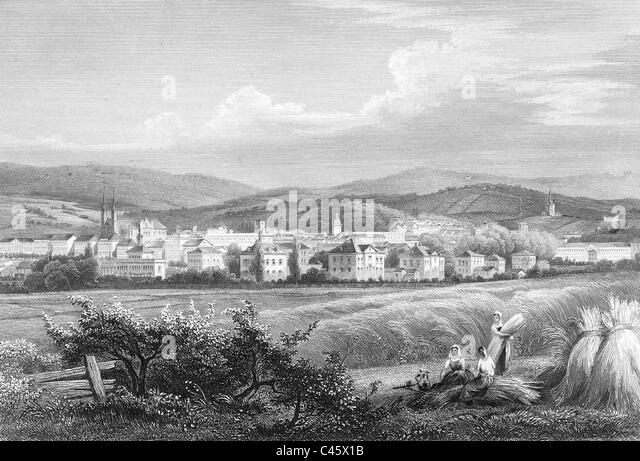 Wiesbaden in the 19th Century - Stock-Bilder