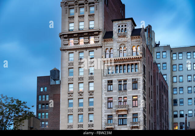 Bank of The Metropolis Building and Decker Building with its intricate terracotta facade, Union Square, Manhattan, - Stock Image