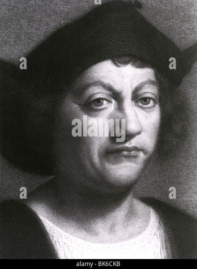 CHRISTOPHER COLUMBUS - Genoese explorer (1451-1506) - Stock-Bilder