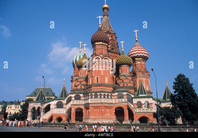 Moscow Russia St Basil s Cathedral Red Square - Stock Image