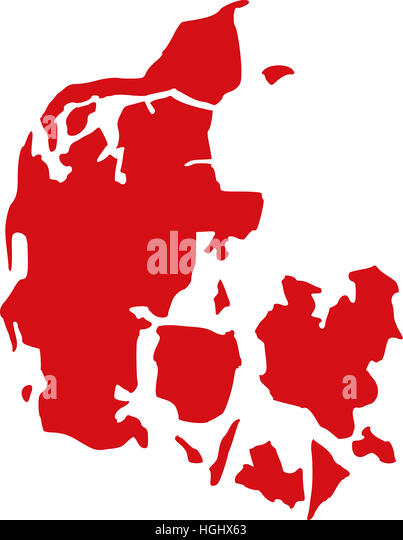Denmark map - Stock Image