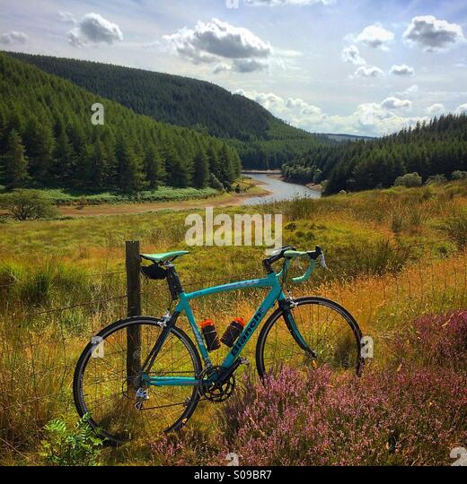 Cycling in Wales - Stock-Bilder