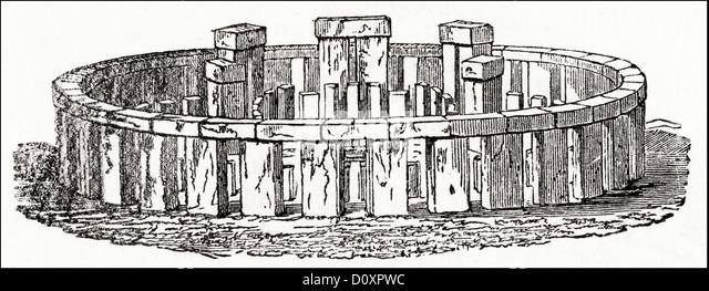 Stonehenge Elevation : Stonehenge illustration stock photos