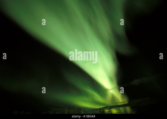 Alaska northern lights aurora borealis - Stock Image