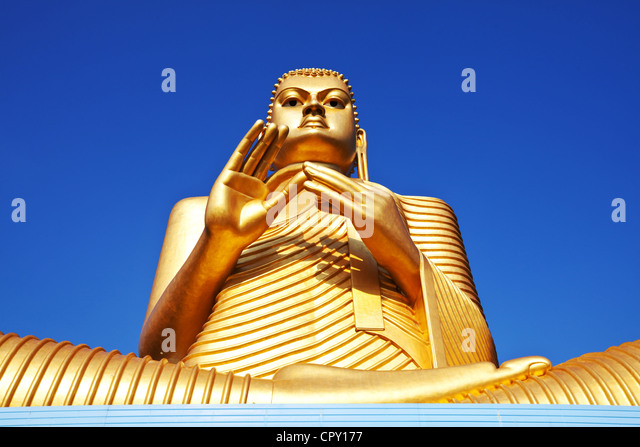 Goldem Temple in Dambulla, Sri Lanka - Stock Image