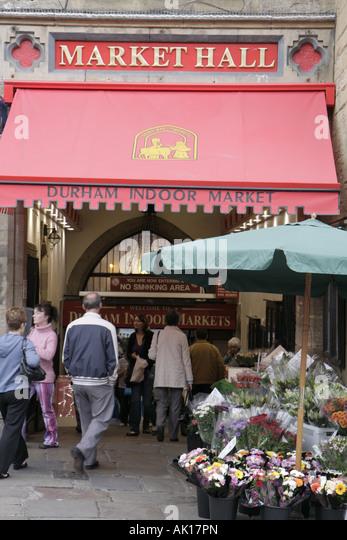 England UK Durham Market Place Market Hall Durham Indoor Market - Stock Image