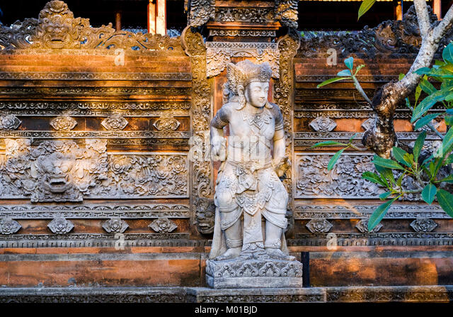 Bali stone sculpture stock photos
