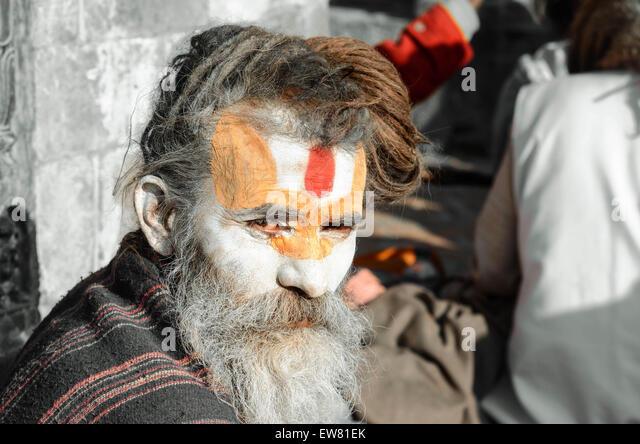 'cultures' 'travel' 'travels' 'trip' 'Asia' 'Nepal' 'man' - Stock-Bilder