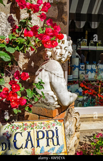 carthusia perfume shop in the island of capri, italy - Stock Image