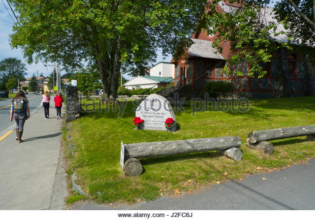 St. Peter's by the Sea Episcopal Church, Est. 1896, Lincoln Street, Sitka, Alaska, USA - Stock Image