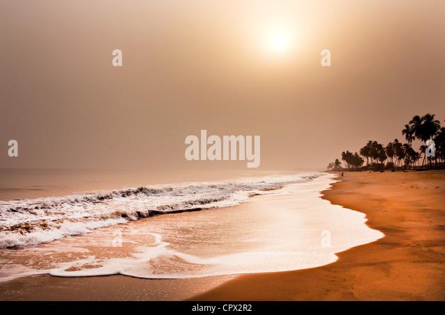 Beach, elmina, ghana, west africa - Stock-Bilder