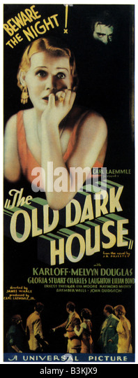 THE OLD DARK HOUSE Poster for 1932 Universal film - Stock Image