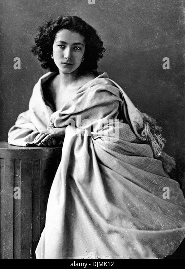 Sarah Bernhardt, French stage and film actress - Stock-Bilder