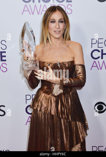Sarah Jessica parker 233 arriving at the People's Choice Awards 2017 at the Microsoft Theatre in Los Angeles. - Stock Image