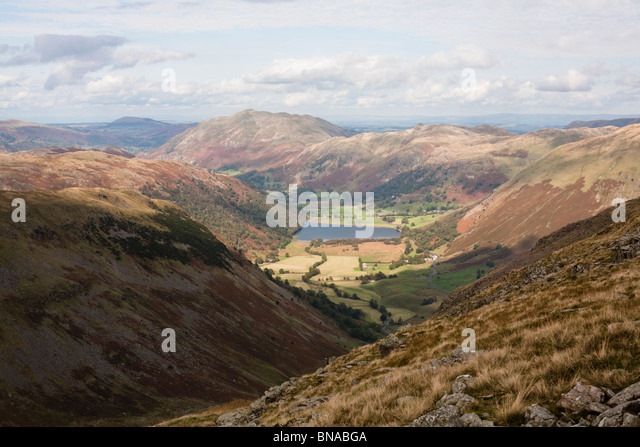 Patterdale from Scandale Pass. - Stock Image