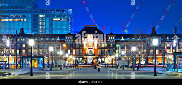 Historic Tokyo Station in the Marunouchi District of Tokyo, Japan. - Stock Image