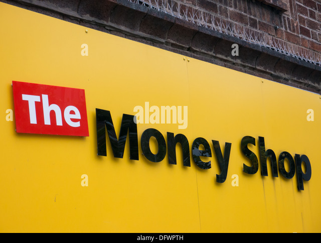 The Money Shop Payday Loan Company and Pawnbrokers owned by Dollar Financial Corp. Nottingham, United Kingdom, UK - Stock Image