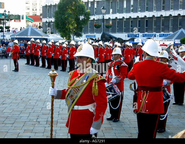 The Ceremony Of The Keys, Gibraltar, Europe, - Stock Image