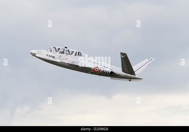 Fouga CM-170R Magister climbing after taking off - Stock Image