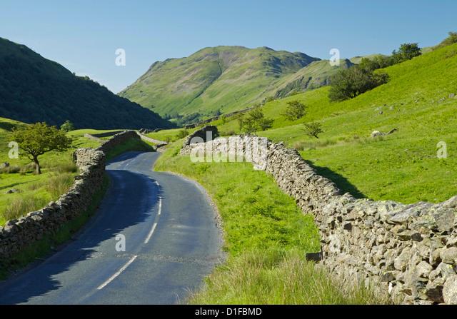 Kirkstone Pass, Lake District National Park, Cumbria, England, United Kingdom, Europe - Stock Image