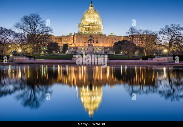 Washington, DC at the Capitol Building. - Stock Image