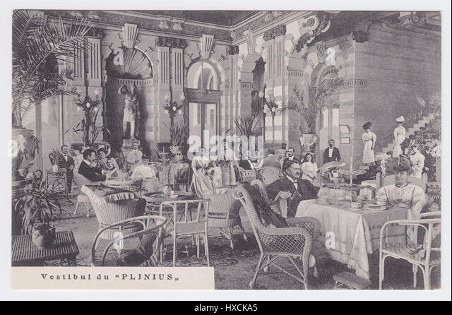 Grand Hotel Plinius, Como, Italy, Vestibule - Stock Image