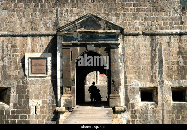 St Kitts Brimstone Hill Fortress National Park The Citadel - Stock Image