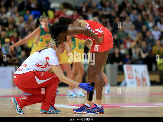 England v Australia - International Netball Series - Third Match - Copper Box - Stock Image