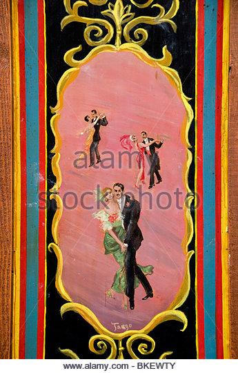 Tango Buenos Aires Argentina La Boca El Caminito Tango Dance Dancing - Stock Image